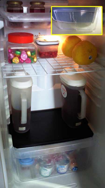 冷蔵庫の棚・・・